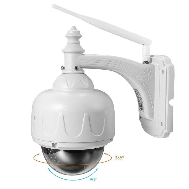 2.0MP 1080P Outdoor Waterdichte PTZ Camera 5X Optische Zoom IP Camera Two Way Audio Wifi Bewakingscamera Remote mobiele APP