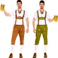 2018 Adult Oktoberfest Uniform Male Beer Festival Dress Men Beerfest Cosplay Costume Cos Costume Make Up Party Dress B-3310