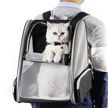 Cat dog Backpack Carrier Foldable Travel Bag Innovative Breathable Traveler Bubble Mesh Backpack for Small pet mesh panel iridescence backpack