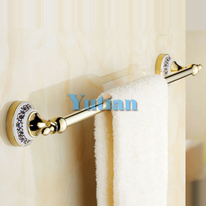 Free Shipping (24,60cm)single Towel Bar/Towel Holder,stainless steel Made,Gold Finish, Bathroom hardware,Bathroom accessories