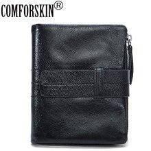 Vintage Thread Zipper Coin Purses for Men 2017 Hot Selling 100% Premium Cow Leather Brand Designer Business Short Men Wallets  2017 hot selling 100