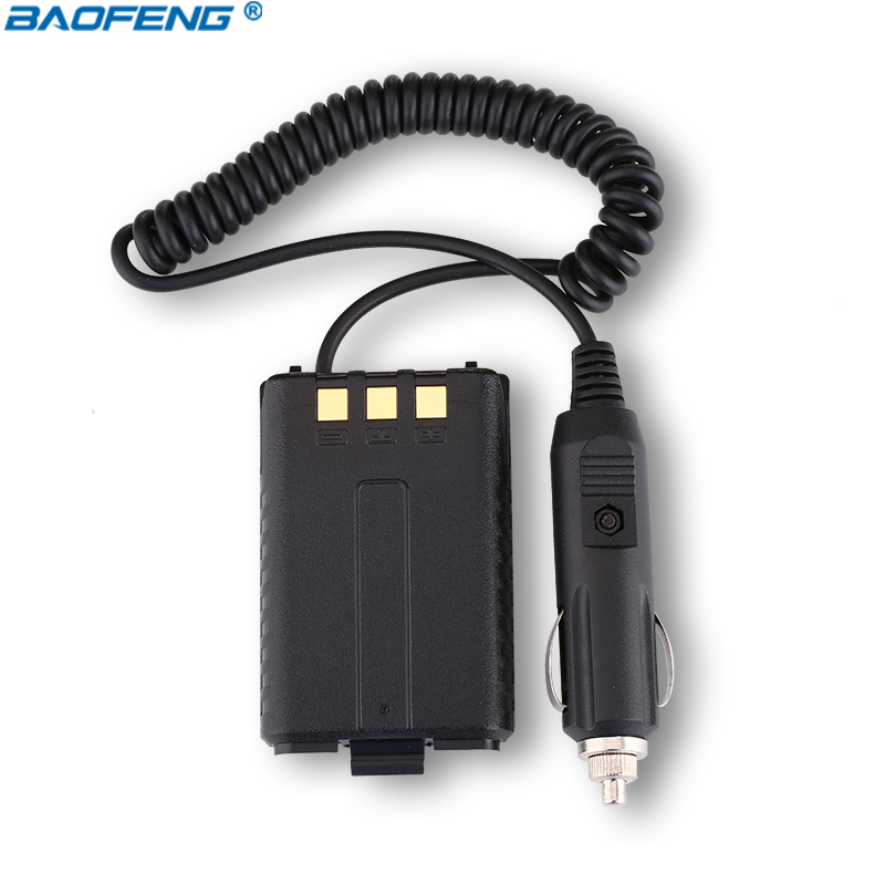 Baofeng Battery 12V Car Charger Eliminator for Baofeng Dual Band Radio UV5R 5RA 5RE Walkie Talkie Accessories