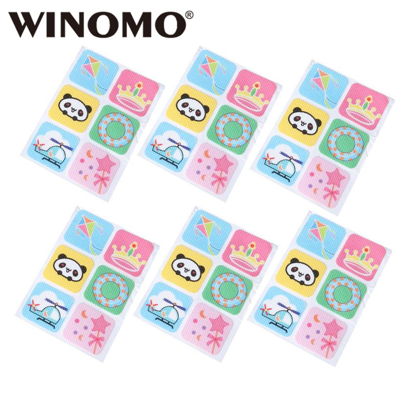 WINOMO 60pcs Mosquito Patch Cartoon Cute Repellent Patch Mosquito Stickers Insect Control Anti-Mosquito Patch For Baby Kids
