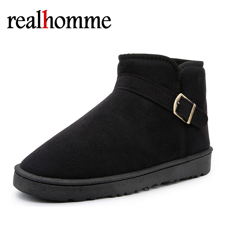 New Cheap Winter Boots Men Solid Snow Boots Plush Inside Keep Warm Casual Men's Ankle Shoes Ski Boots for Men 35-45