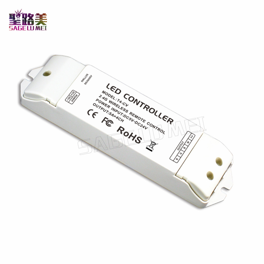 T4 2.4G LED Touch RGBW RF Remote Controller Wireless Control 8 Zone use with T4-CC/T4-CV For RGBW LED Strip Light Panel Lights m3 m4 5a m3 touch rf remote with m4 5a cv receiver led dimmer controller dc5v dc24v input 5a 4ch max 20a output