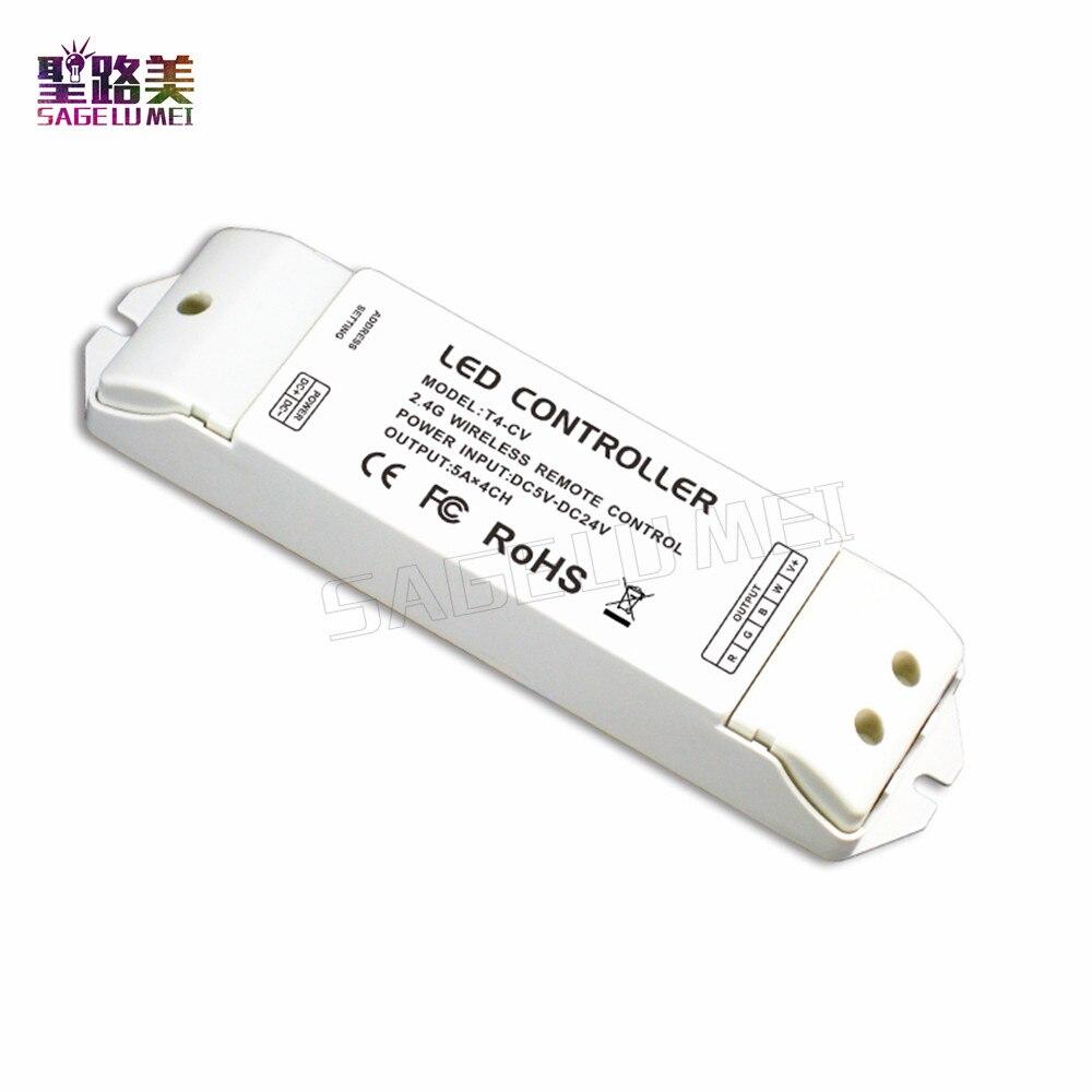 T4 2.4G LED toucher RGBW RF télécommande sans fil 8 Zone utilisation avec T4-CC/T4-CV pour RGBW LED