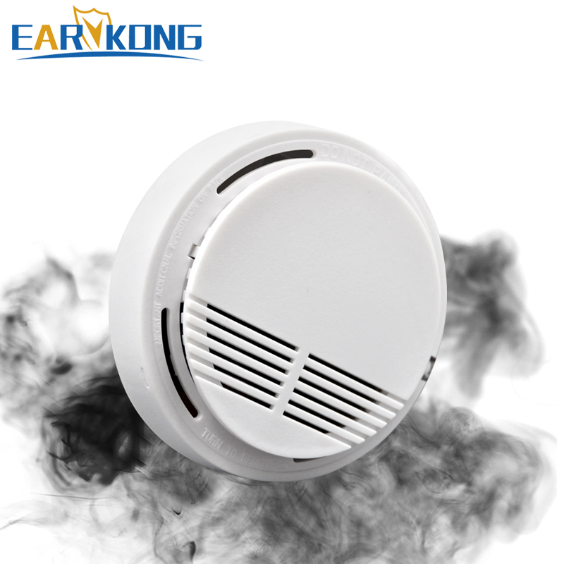 433MHz Wireless Smoke Protection Detector Smoke Fire Sensor For Wifi / PSTN / GSM Home Security Alarm System(China)