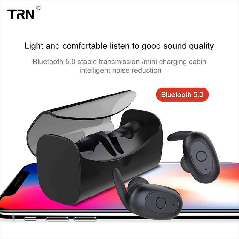Wireless Headphone Earbuds Bluetooth V5.0 TWS Earphones Sport Invisible Charging Box Earphones