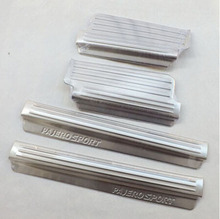 Car Styling Stainless Steel Scuff Plates Door Sill  Welcome Pedal For Mitsubishi Pajero Sport 2010 2014 Auto Accessories 4pcs