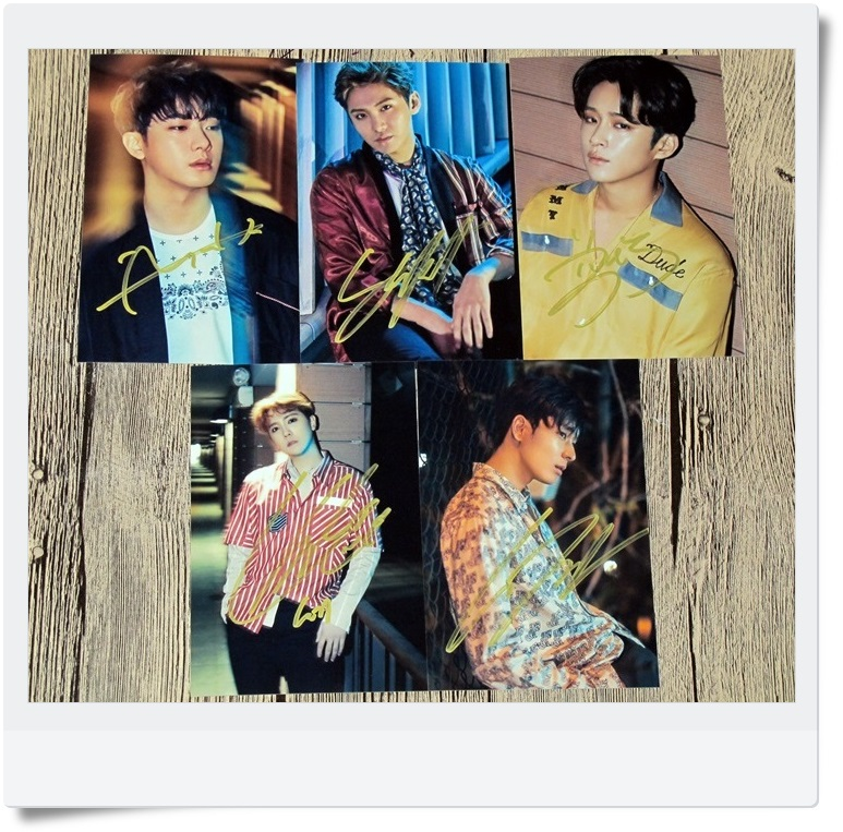 signed FTISLAND FT Choi Jong Hun autographed  original photo Over 10 years  5 photos set 6 inches freeshipping 062017 signed apink jeong eun ji autographed original photo 6 inches 6 versions freeshipping 082017b