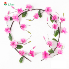 1.8m Magnolia Artificial Flowers Wall Decoration Fake  Dried Wedding Luxury Home Decor