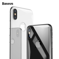 Baseus Back Screen Protector Tempered Glass For iPhone Xs Max Rear Protection Glass For iPhoneXs Xs 6.5 Full Curved Back Film|Phone Screen Protectors| |  -