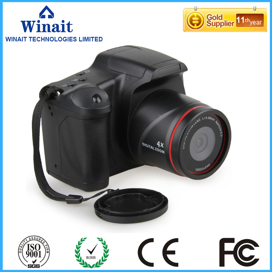 ФОТО Free Shipping digital camera 12MP camera Professional SLR camera 4X digital zoom LED headlamps cheap sale cameras Russia