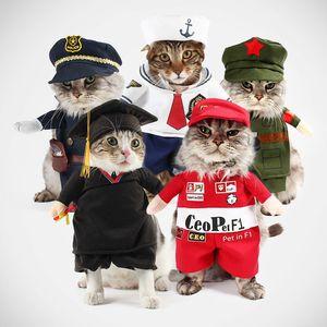 Image 1 - Grappige Hond Kat Kostuums Boxer Arts Verpleegkundige Cosplay Pak Huisdier Kleding Halloween Uniform Kleding Voor Puppy Honden Kostuum Voor Een kat