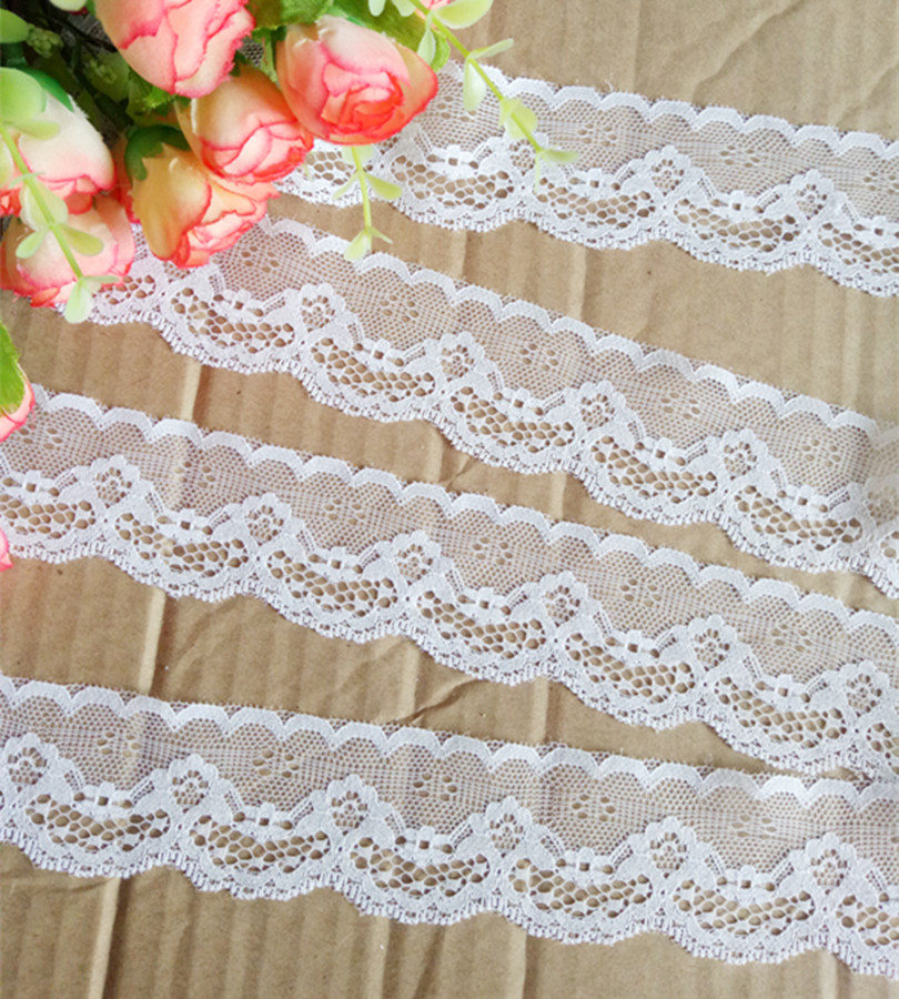 """10 yards Elastic 1//2/"""" Soft Plush Eyelet Scallop Lace//trim//Baby//Sewing T30-Pink"""
