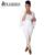 2016 de Las Mujeres Americanas Otoño Blazer Establece Moda Ropa de Trabajo Blanca Ladies Casual Doble de Pecho Top + Pantalones de 2 Unidades Del Partido trajes