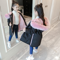 2018 NEW Princess Winter Coat for Girls made of goose feather Kids Down Jackets age 6 14 Y Children Outfit Winter Girls Clothing