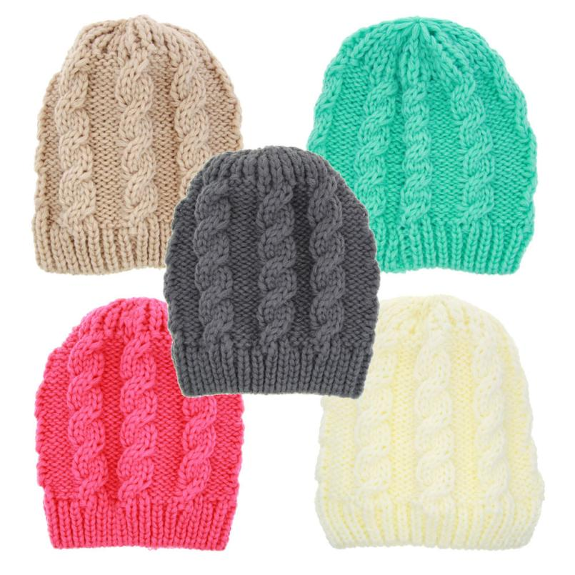 Toddler New Kids Baby Boy Girl Infant Knitting Warm Hat Cap Beanie Photo Props Baby Clothing Knitted Cap lowest price