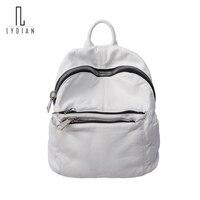 2017 New Washed Leather Shoulder Bag Soft Large Capacity Zipper Mummy Bag Shoulder Big Zipper Backpack