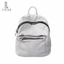 4b7db5ffe8 2018 New Washed Leather Shoulder Bag Soft Large Capacity Zipper Mummy Bag  Shoulder Big Zipper Backpack