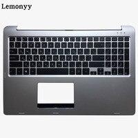 Russe clavier d'ordinateur portable Pour ASUS TP500 TP500L TP500LA TP500LB TP500LN argent Clavier avec Repose-poignets majuscules Couverture