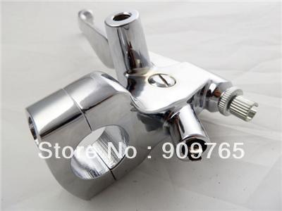 1 Chrome LEFT Handlebar Hand Controls Brake Clutch Skull Lever for Honda Shadow Aero Spirit VLX Sabre VT VTX 1300 1800 Rebel