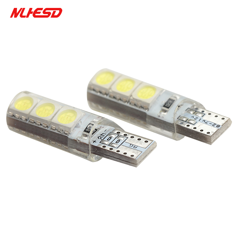 <font><b>100X</b></font> High Bright W5W <font><b>T10</b></font> LED 6 SMD 6 LED Waterproof Canbus Car Wedge Light 5050 Automobile Clearance Lights Signal Lamp 12V DC image