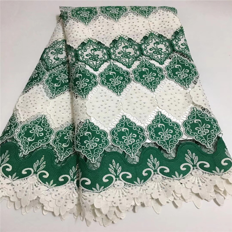 2018 Good Looking Swiss Voile Lace African Guipure French Lace Fabric With Stones African Lace Fabric