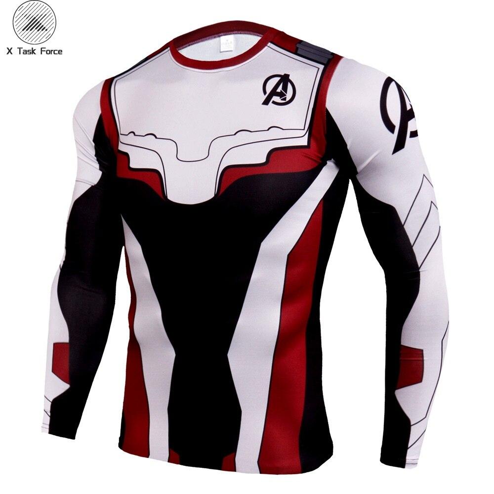 Men T Shirt 2019 Avengers 4 Tshirt Infinity Symbol T-shirt 3D Metal Marvel Tops Captain Tees Fashion Superhero Clothes