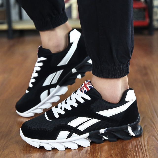 Chaussures de sport pour hommes chaussures respirant des chaussures de sport britanniques, bleu 41