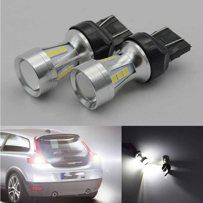 2X 7443 7440 LED 18 SMD W21/5W 18W Car LED Bulb Turn Signal Light Brake Light Source parking auto White Red Yellow 1pcs t20 w21 5w 7443 32smd 4014 car led brake light auto warning bulb fog lamp dc12v car styling side turn signal 6000k white