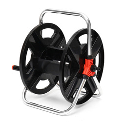 Mayitr Portable Garden Hose Reel Holder Outdoor Gardening Water Planting Cart Hold Aluminum Frame For Irrigation Supplies