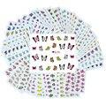 50 Pçs/lote Flor Nail Art Decoração Ferramentas Etiqueta Do Prego Decalques de Água Todos Os Adesivos Para Unhas DIY Decorações Atacado BNAo502