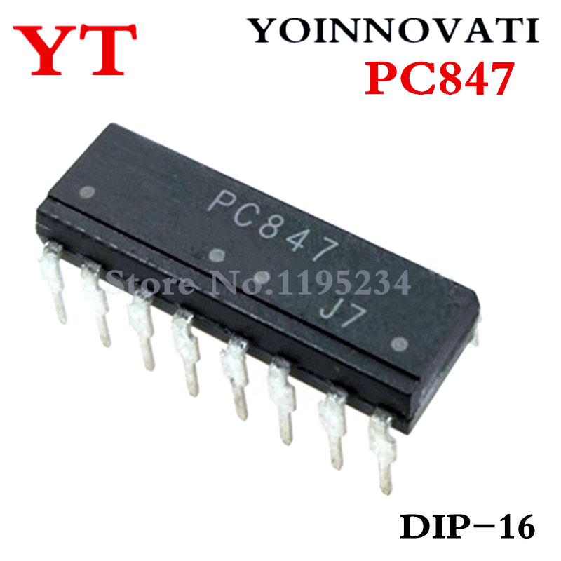 Free Shipping 10pcs/lot PC847 847 DIP16 IC Best Quality