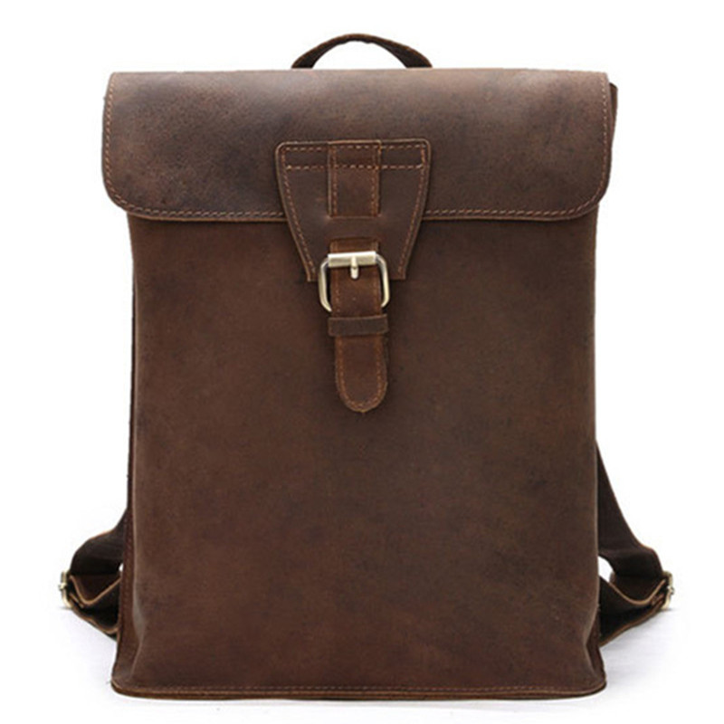Latest Women Vintage Crazy Horse Genuine Leather Backpack Fashion Youth Casual School Bags For Girls Female Travel Bag mochilaLatest Women Vintage Crazy Horse Genuine Leather Backpack Fashion Youth Casual School Bags For Girls Female Travel Bag mochila
