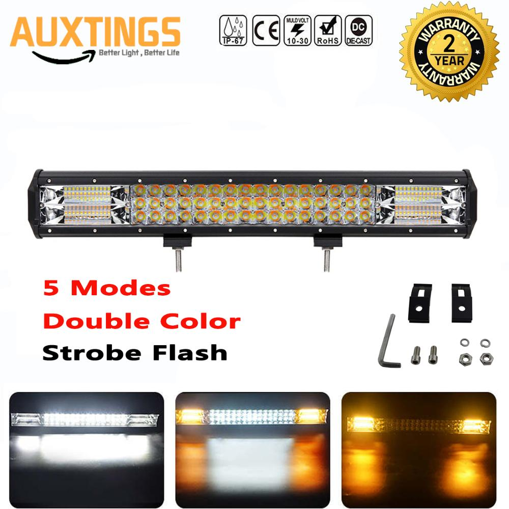 7D 20 inch 288W LED Led Light Bar 5 Modes Combo Bar Waterproof IP67 Car Boat Off Road Levels White Yellow Driving Work Light|Light Bar/Work Light| |  - title=