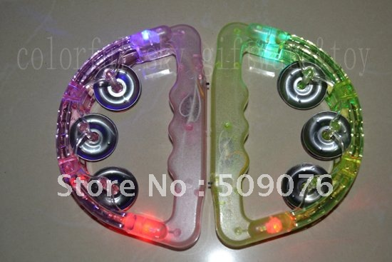 Free Shipping 2pcs Lot 16 10cm Led Baby Rattle Hand Bell
