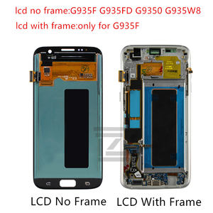 Image 2 - Amoled For SAMSUNG GALAXY S7 edge lcd display Touch Screen Digitizer assembly LCD digitizer G935 G935F with frame repair parts