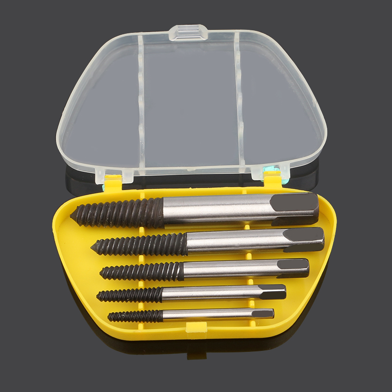 5pc Broken Damaged Screwdriver Extractor Drill Bit Alloy Steel Double Side Screw Center Drill Bits Removal Tools Set hss broken screwdriver wiper breakage screw removal tool screwdriver double headed wire cutter woodworking hardware