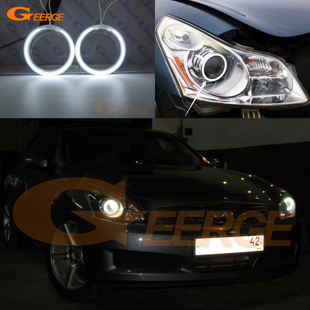 For Infiniti G35 G37 2007 2008 2009 Hid Xenon Headlight Excellent Angel Eyes Ultra Bright Illumination Ccfl Kit