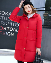 Winter Jacket Women 2017 Outerwear Female White Plus Size Women Coat Women Parkas Slim Long Thick Cotton Jackets