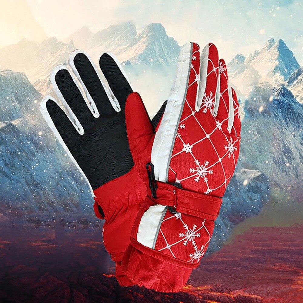 1 Paar Frauen Ski Handschuhe Winter Warm Anti-slip Schnee Schneemobil Snowboard Winddicht Sport Handschuh Outdoor Skifahren Wandern Handschuhe Pj5