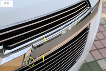 New For Chevrolet Chevy Cruze 2011 2013 Stainless Steel Front Center Grille Around Cover font b