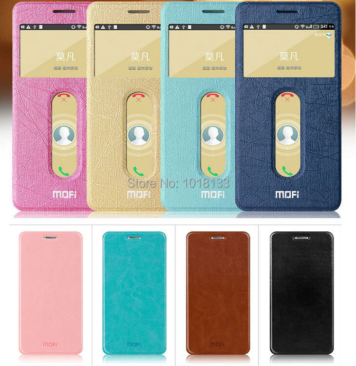 MOFI Lenovo S850 Leather Case S850T Flip Cover Protective Gift Screen Protector Stock - Mobile Phone Accessories Home store