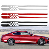 1 pair Sport style car styling car side skirt vinyl stickers and decals,die cut car decoration for seat ibiza/peugeot 206/ford
