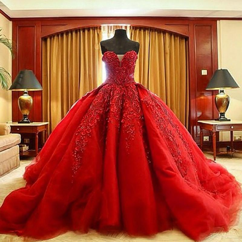 Compare prices on michael cinco online shopping buy low for Wedding dresses 2017 red
