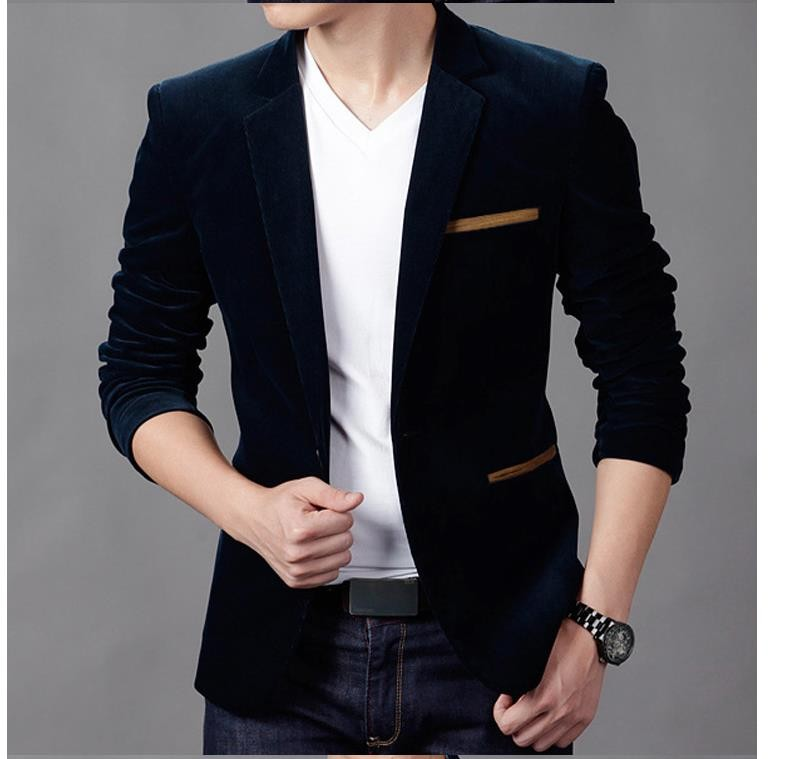 Riinr New Arrival Luxury Men Blazer New Spring Fashion Brand High Quality Cotton Slim Fit Men Suit Terno Masculino Blazers Men ...