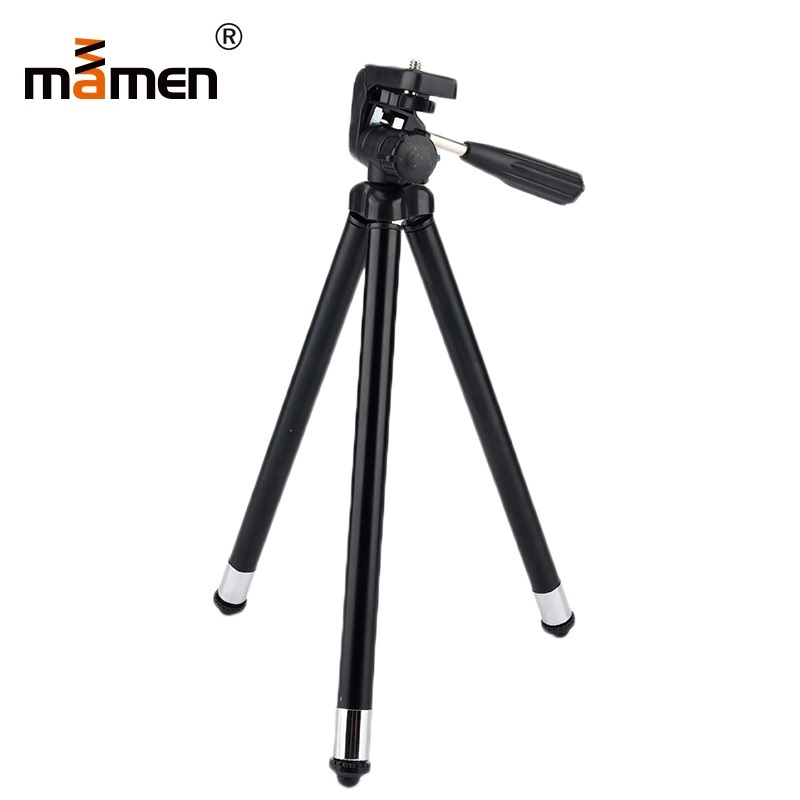 MAMEN Camera Tripod Stand Holder With Ball Head Mount For Canon 1300D Sony X3000 A6000 Nikon D3400 D5300 DSLR Camera Accessories