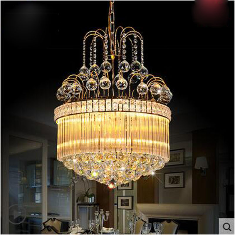 D50 X H50CM modern LED k9 crystal chandelier restaurant lamp Rooms European wine corridor aisle lights atmospheric lobby lights