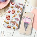 Arte de impressão em relevo caso para iphone 7 6 6 s plus 5 se gostoso ice cream claro capa de silicone casos de telefone para samsung s6 s7 edge
